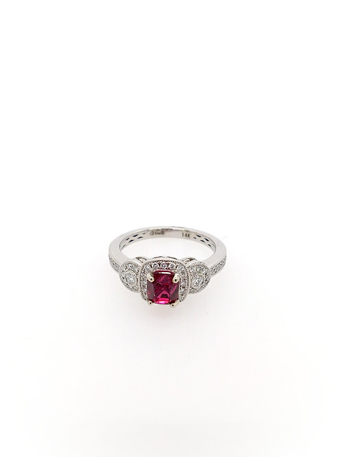 Spinel and Diamond 14kw Ring