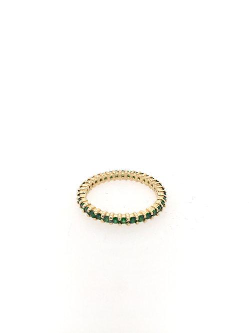 Tsavorite Garnet Eternity Stackable Ring