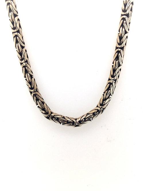 Round Byzantine Silver Necklace