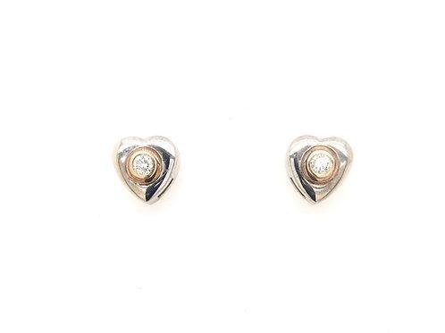 14kw Diamond Heart Earrings