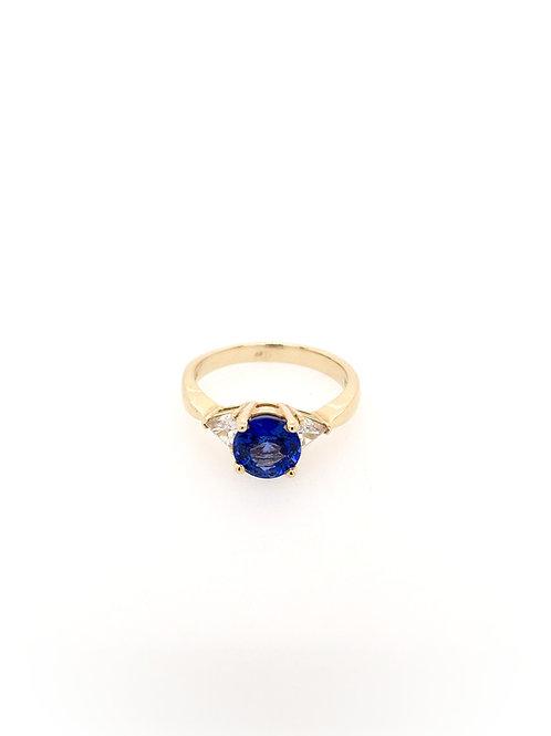 Sapphire and Diamond 14ky Ring