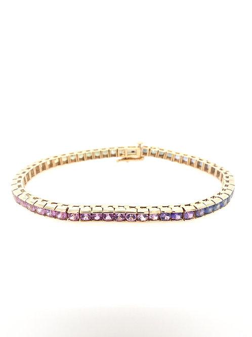 Rainbow Sapphire 14ky Bracelet