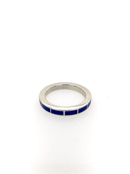 Lapis Eternity Stackable Ring