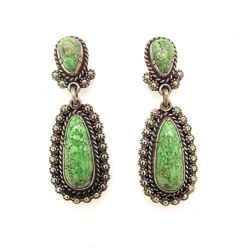 Silver and Gaspéite Earrings