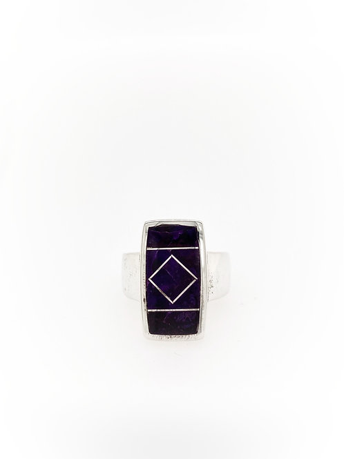 Sugilite and Silver ring