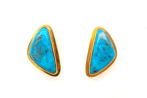 Turquoise 18ky Earrings