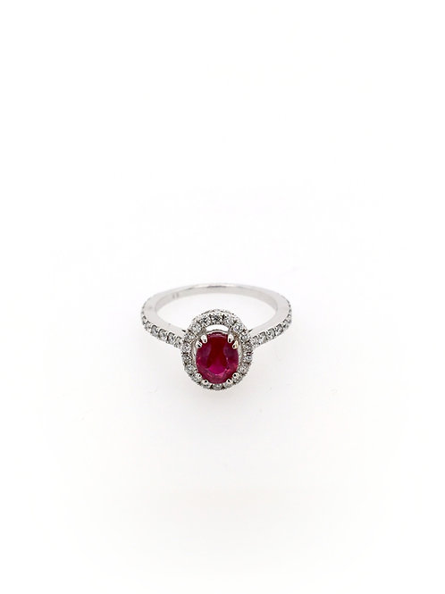 Ruby and Diamond Ring in 18kw