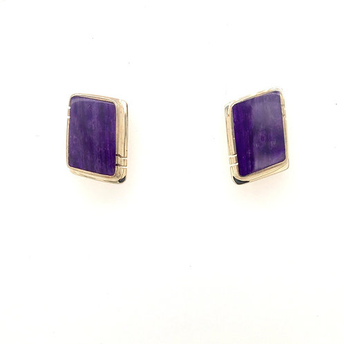 Silver and Sugilite Earrings