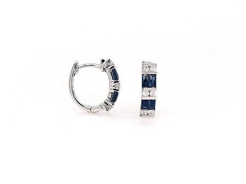 Sapphire and Diamond 14kw Earrings
