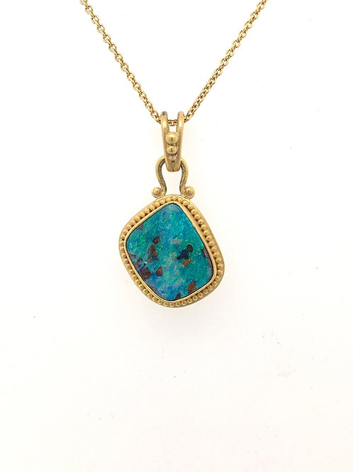 Boulder Opal Pendant with 14KY Chain
