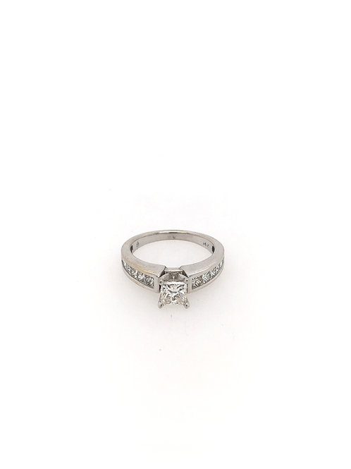 Princess Cut 14kw Engagement Ring