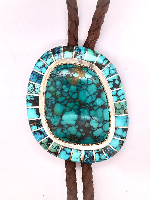 Turquoise and Silver Bolo Tie