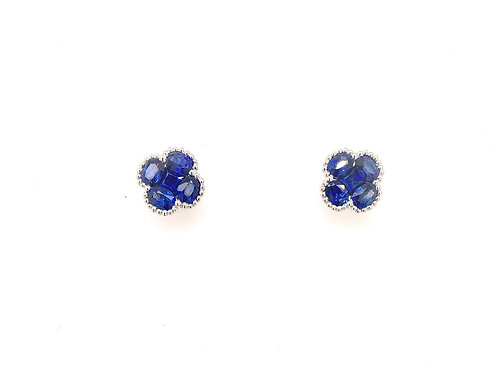 18kw Sapphire and Diamond Earrings