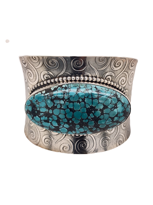 Silver and Turquoise Cuff