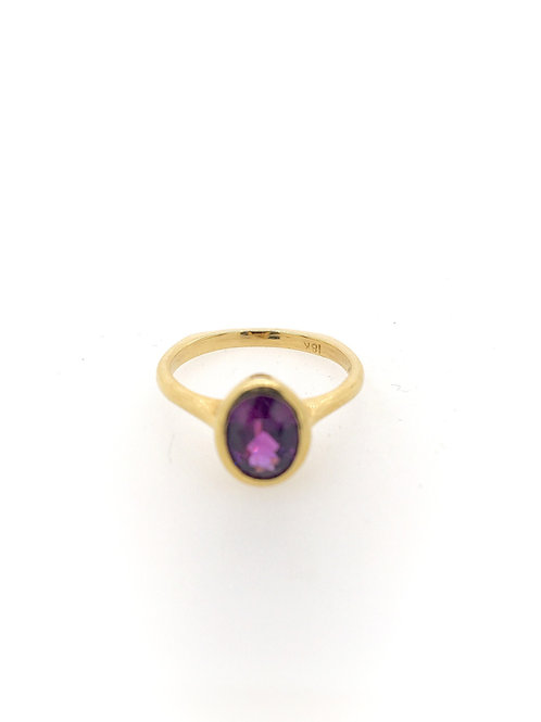 Purple Sapphire and 18ky Ring