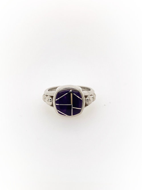 Sugilite Silver Ring