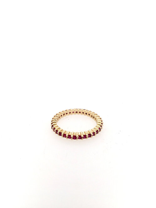Ruby Eternity Stackable Ring
