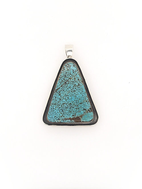 Large Silver and Turquoise Pendant