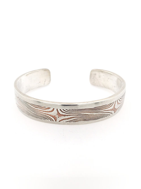 Silver, Copper, and 22ky Mokume Cuff