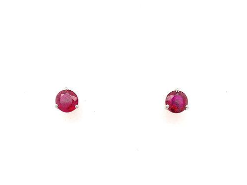 14kw Ruby Earrings
