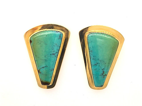 Turquoise 14ky Earrings
