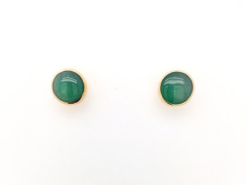 Chrysoprase in 14ky Earrings