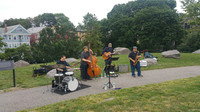 A Jazz band performance in the park