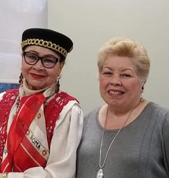 President Maria Sachez and Board Member Millie De Los Santos