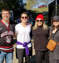 Board Member Chris Freiss and other runners at the Road Race