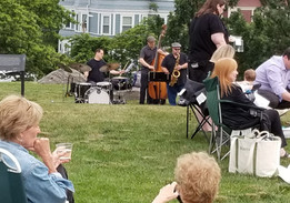 Band performance in Kevin Fitzgerald Park