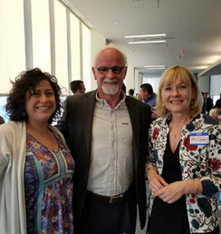 Executive Director of Sociedad Latina Alex Oliver and John Riordan from the Children's Hopsital with Patricia Flaherty