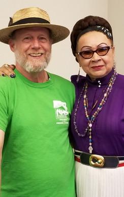 Board member Bruce Keary and MHNHS President Maria Sanchez