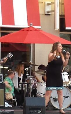 Concert performance in Brigham Plaza