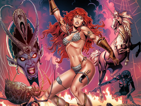 Gail Simone & Walter Geovani's Red Sonja Run Celebrated Limited Edition Variants Available Now!