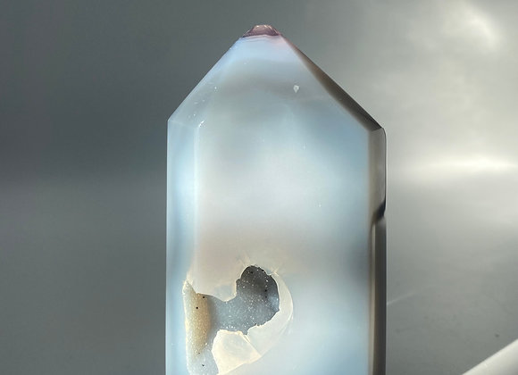 Agate Druzy Tower