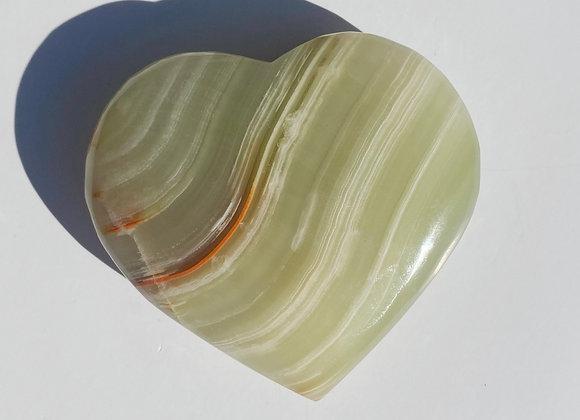 Aragonite Green Onyx Heart