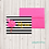 Thumbnail: Fold Over Note Cards--Stripes and Flamingo