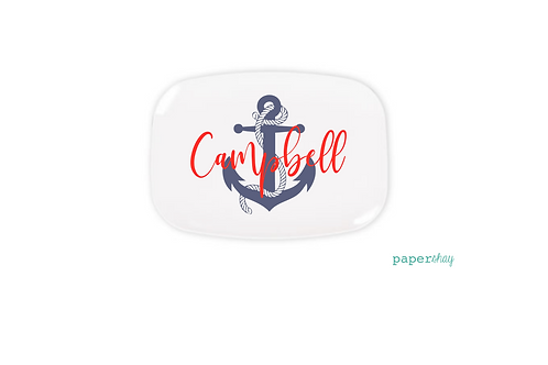 Personalized Melamine Platter   Anchor