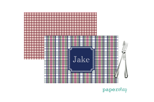 Placemat Laminated--Plaid