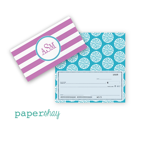 Checkbook Cover-Stripes