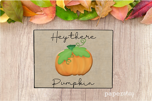 Welcome Mat-Hey there Pumpkin