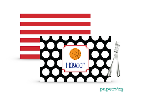 Placemat Laminated--Basketball