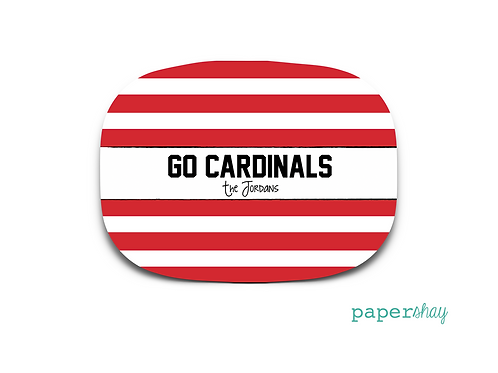 Personalized Melamine Platter Louisville Cardinals