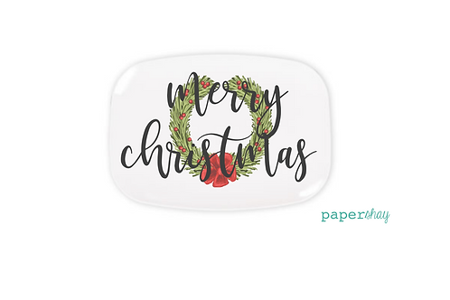 Personalized Melamine Platter  Christmas