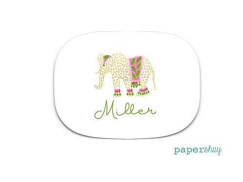 Personalized Melamine Platter  Elephant