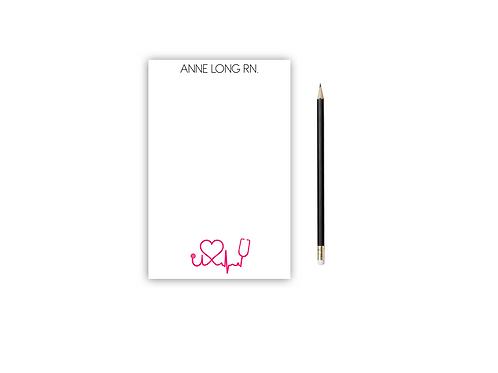 Personalized Notepad STETHOSCOPE