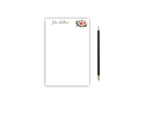 Personalized Notepad PEONY