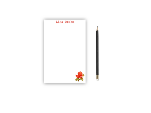 Personalized Notepad FLOWER