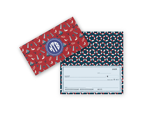 Checkbook Cover-ANCHORS