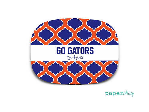 Personalized Melamine Platter GATORS